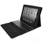 iPad Leather Case with Wirelesss Bluetooth Keyboard